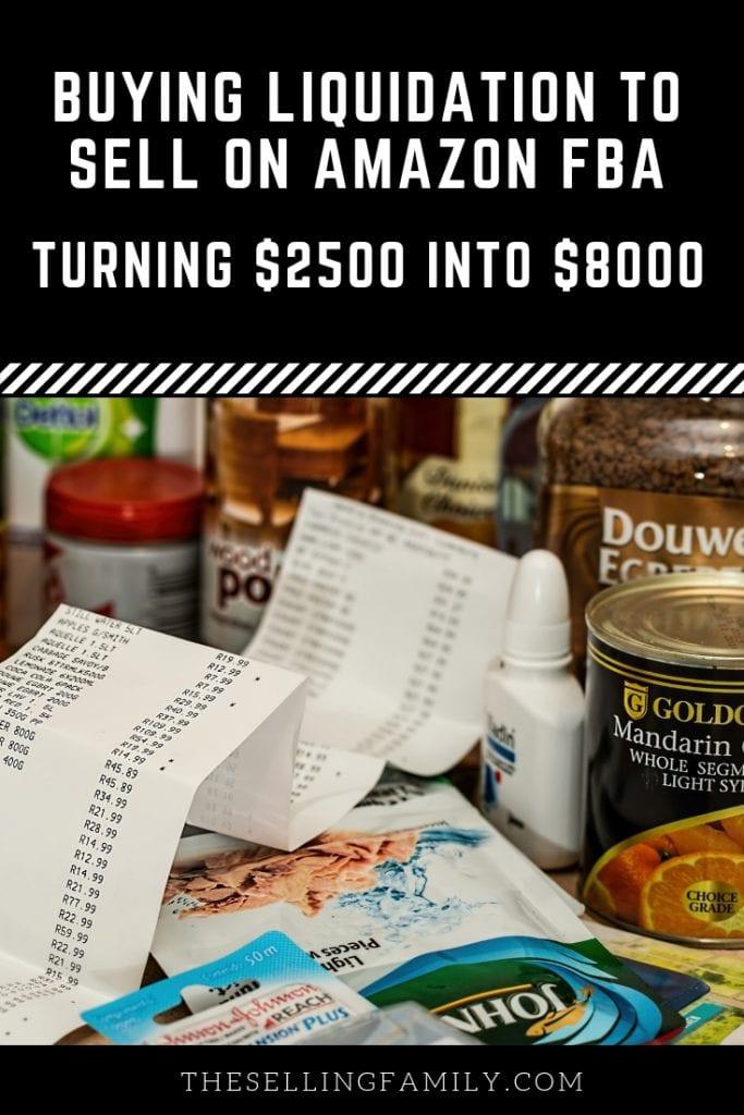 Buying Liquidation To Sell On Amazon FBA - Turning $2500 Into $8000