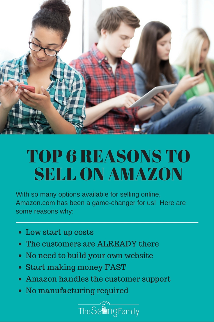Selling on Amazon is a great platform for building an online business.  Here are 6 reasons why!