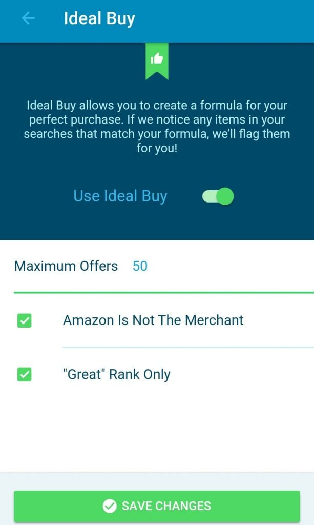 Set up your ideal buy criteria in Scoutify 2