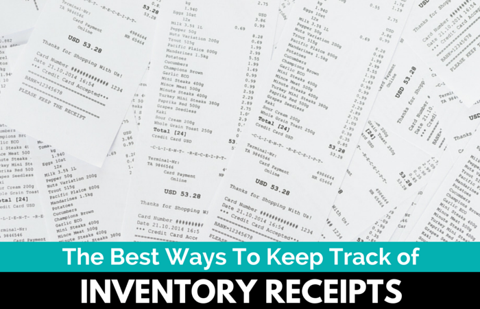 best ways to keep track of inventory receipts for taxes the