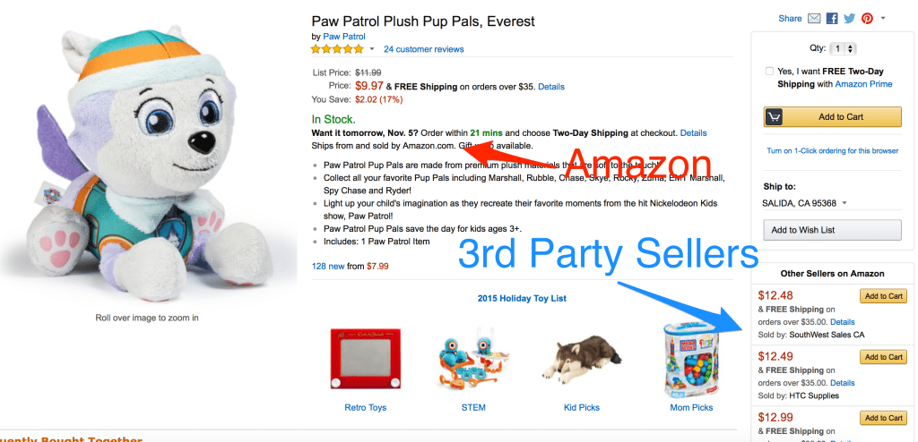 What Does Selling On Amazon Mean? Here are 3rd Party Sellers Shown in The Buy Box