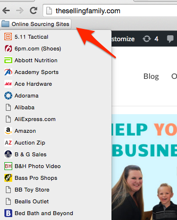 Awesome Tool For Online Sourcing!  Save over 150 online stores to your browser bar for easy access.
