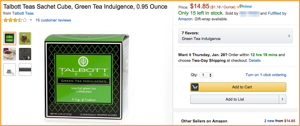 Discontinued Tea Will Profit Us Over $10,000 On Amazon.com