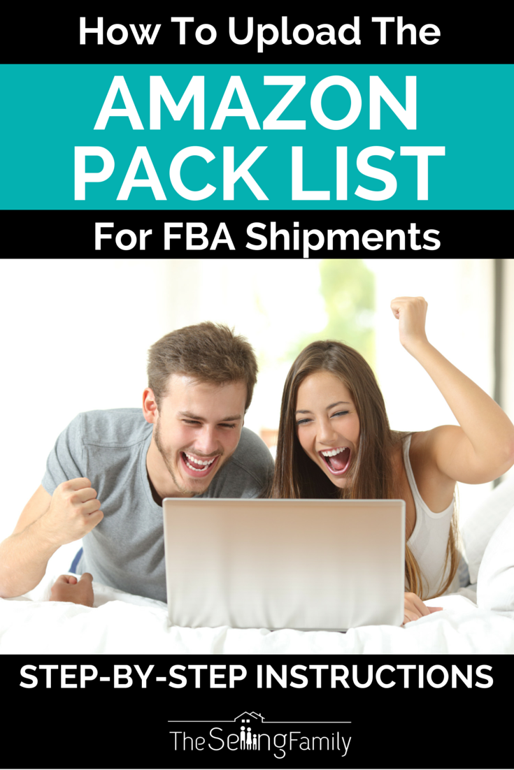 How To Upload The Amazon Pack List For FBA Shipments