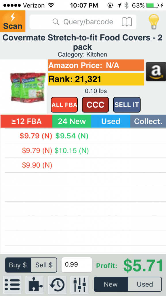 Profit Bandit Seller App Example From The Selling Family Comparison Post