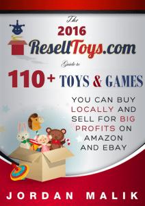 2016 Resell Toys Guide Book By Jordan Malik