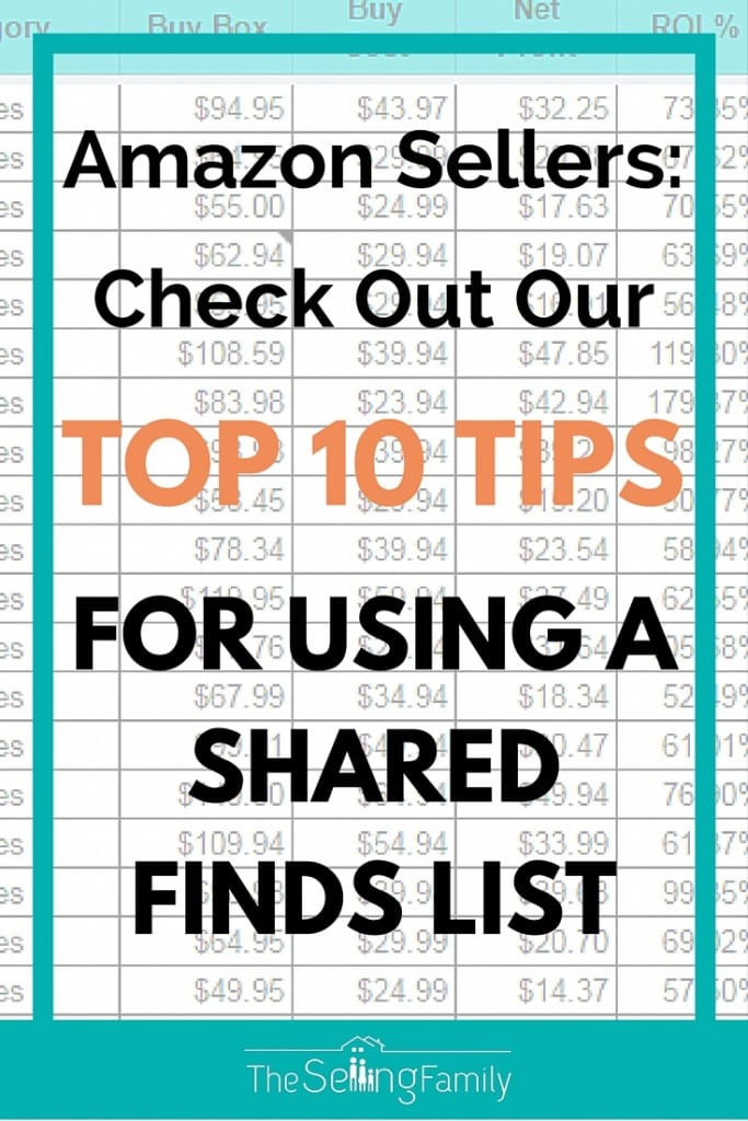 top 10 tips for shared finds list