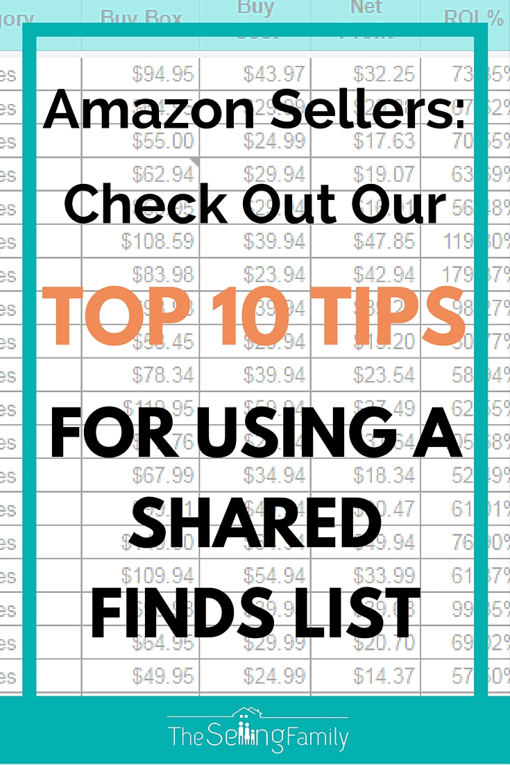 One of the most popular ways for Amazon sellers to find products to resell on Amazon is to use some sort of a shared finds list.  This may be a BOLO Group, Mastermind Community or a Shared Virtual Assistant. Today we are going to talk about how to best utilize a shared virtual assistant list.  Specifically the one offered by The Selling Family.  You can see all the details of our shared list here. Often we see people get overwhelmed or frustrated on what to actually do with the products that are found on the shared VA list.  So we wanted to combine our best tips so that you can go into any shared list with confidence for making purchases.