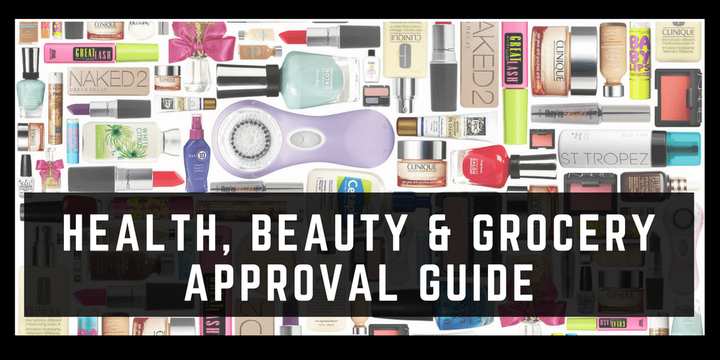 Health and personal care, beauty and grocery category approval guide