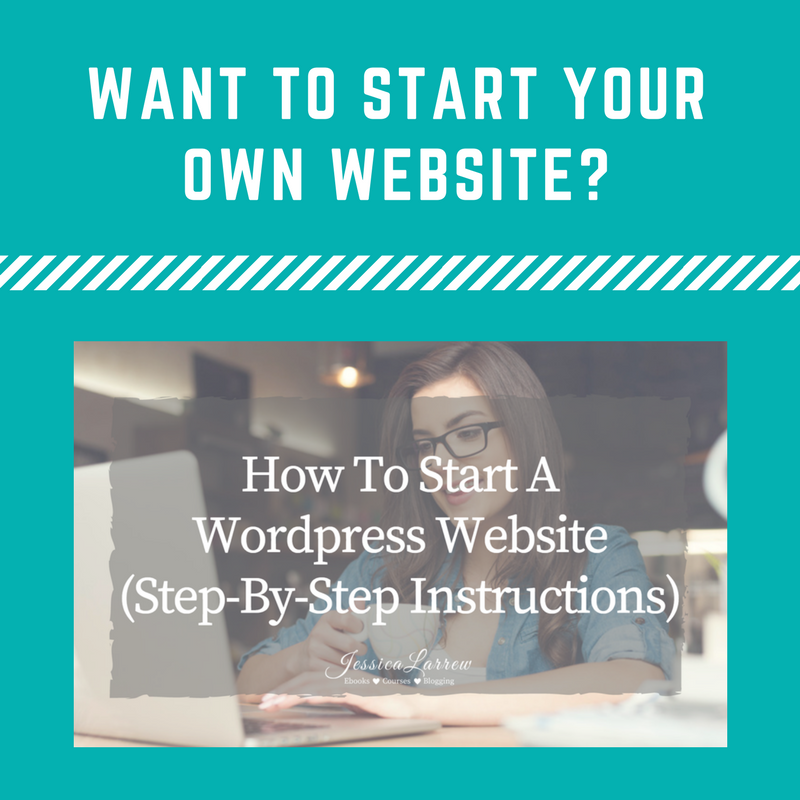 Let Jessica larrew show you step by step how to build your own wordpress website