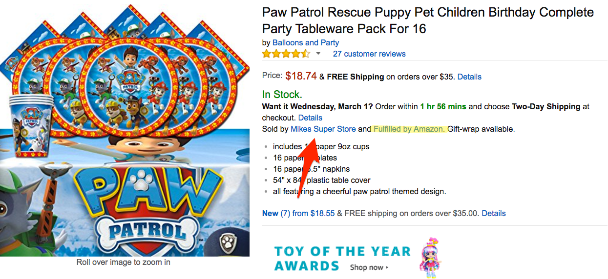 What It Looks Like When A 3rd Party Is Selling An Item on Amazon FBA