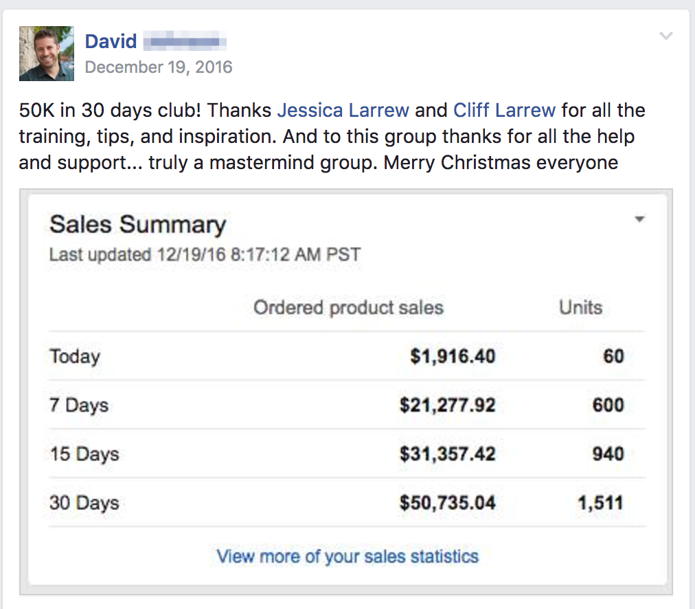 Joining The 50K In 30 Days Club For Amazon Sellers!