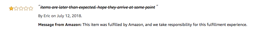 Feedback marked through by Amazon after submitting an amazon feedback removal request