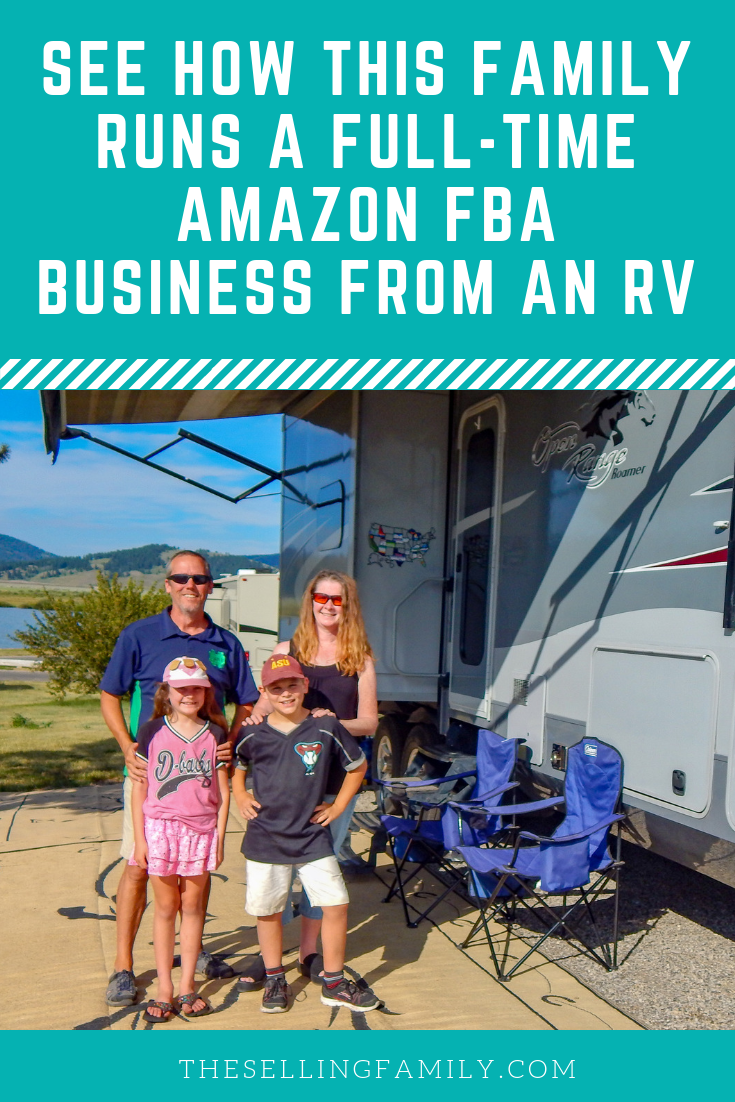See how this family runs a full time Amazon FBA business from an RV