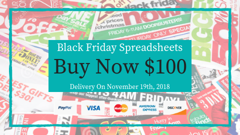 Black Friday Spreadsheets 2018 Buy Button