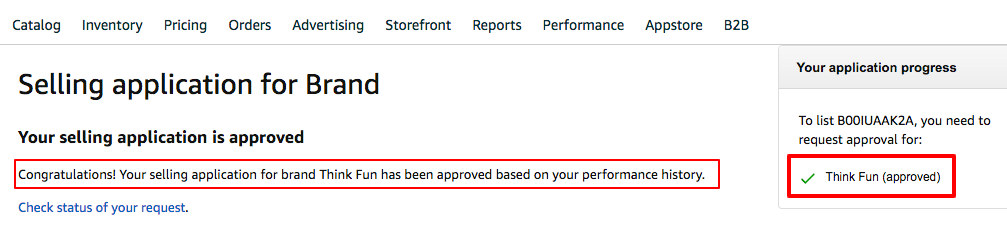 Automatically Approved Success Page