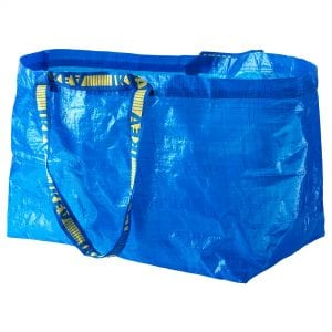 Large blue shopping bag from Ikea