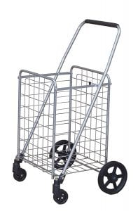 An empty cart with wheels