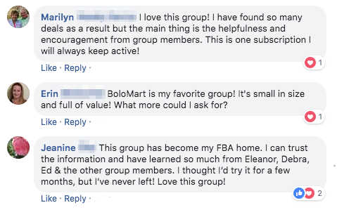 BoloMart Testimonials From Group