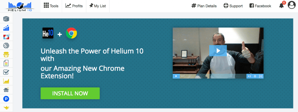 Get the Helium 10 Chrome Extension