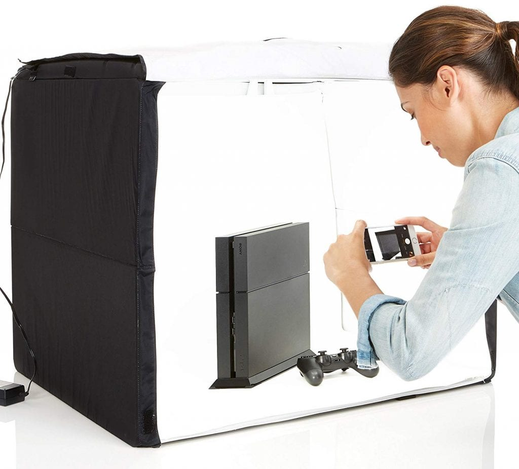 Portable Photo Studio in use